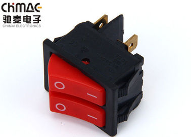 Brass Terminals Double Pole Rocker Switch , Copper Bridge Push Rocker Switch 220V 10A